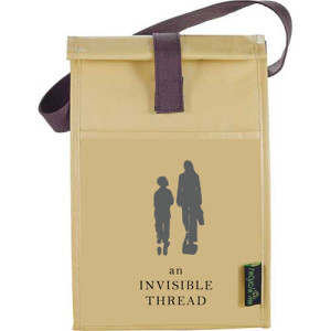 An Invisible Thread Reusable Brown Lunch Bag